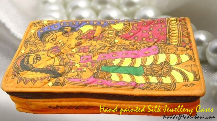 Hand painted Silk Jewellery Case